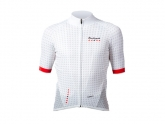 Bouticycle Maillot manches courtes CLIMB 111 Blanc/Rouge